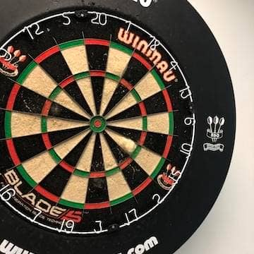 the High Speed Training darts board