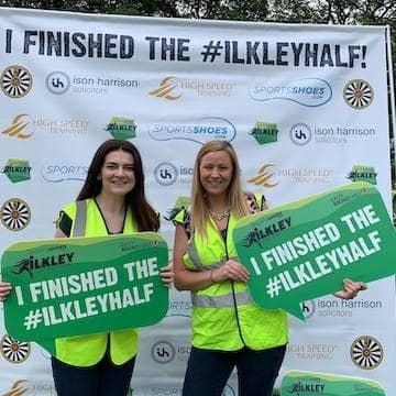 staff volunteering at the Ilkley Half Marathon