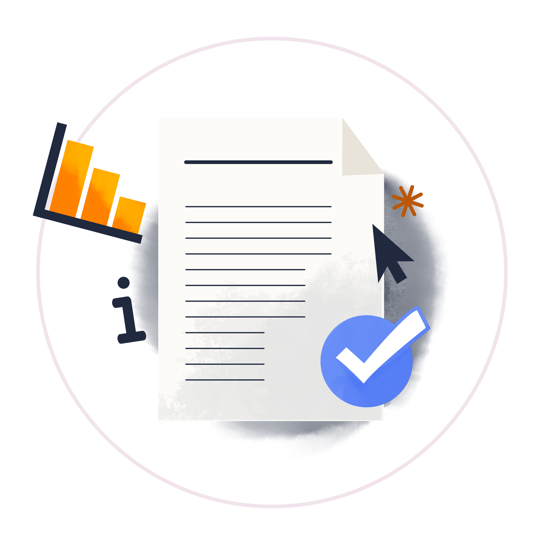 Illustration for terms and conditions