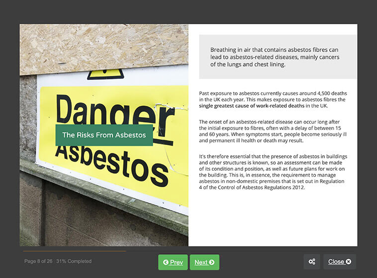 Screenshot 02 - Asbestos Awareness (Category A) Training