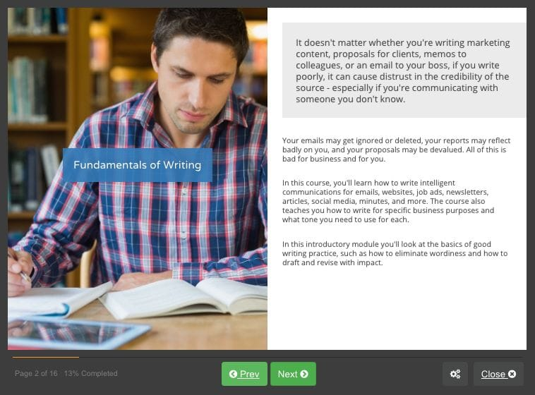 Screenshot 01 - Business Writing Skills