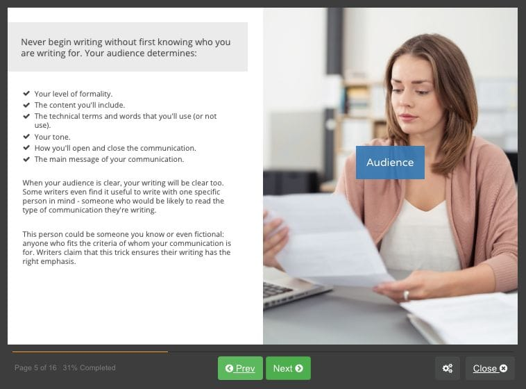 Screenshot 03 - Business Writing Skills