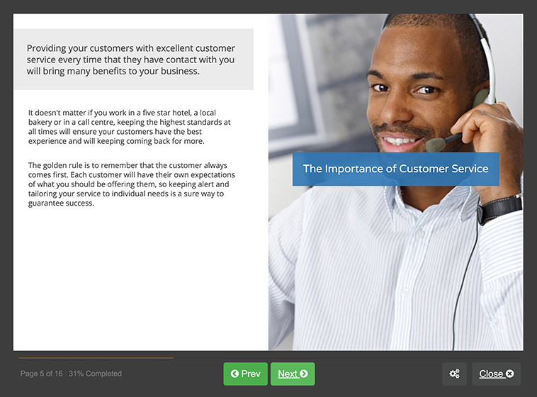 Screenshot 01 - Customer Service Skills