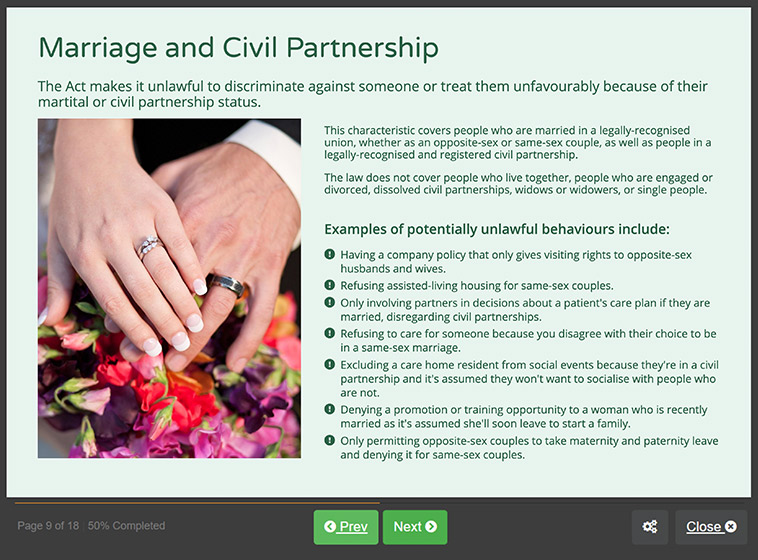 Screenshot 02 - Equality & Diversity in Health & Social Care