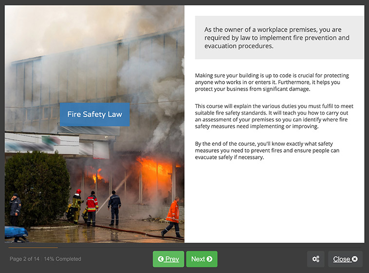 Screenshot 01 - Fire Risk Assessment