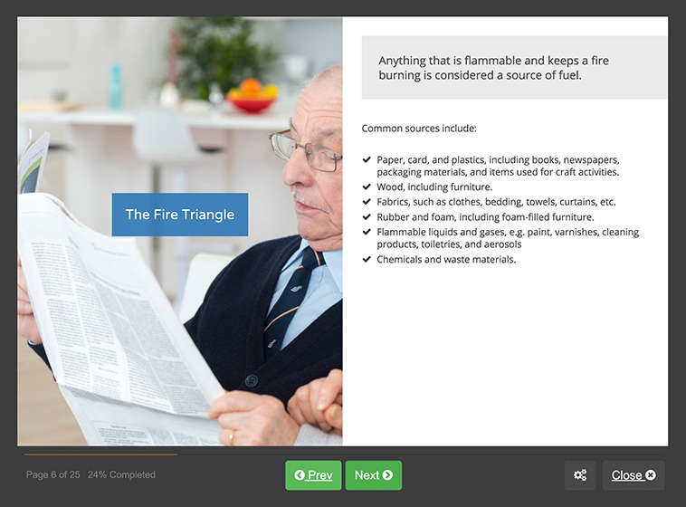 Screenshot 02 - Online Fire Safety For Care Homes Training Course