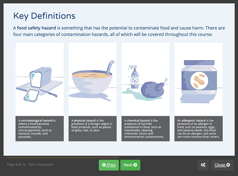 Screenshot 01 - Food Hygiene Course for Catering