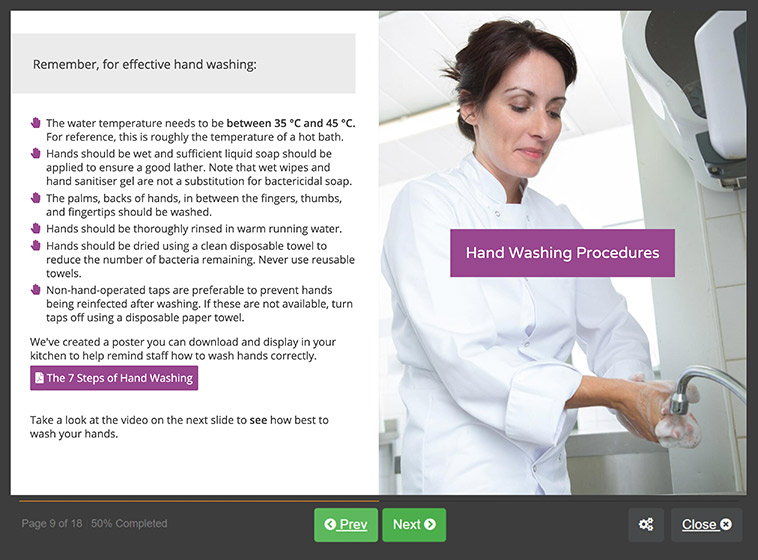 Screenshot 03 - Food Hygiene Course for Catering