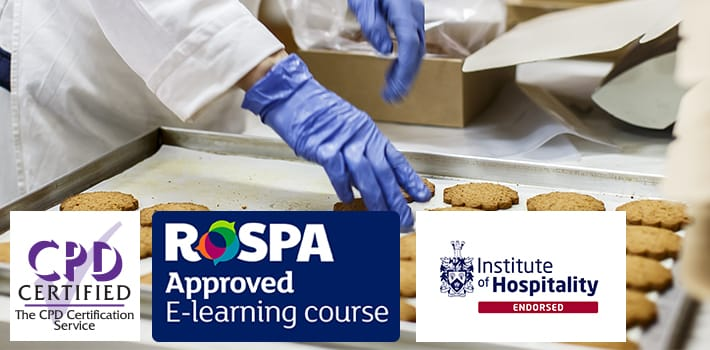 Accreditation logos for CPD, RoSPA and Institute of Hospitality.