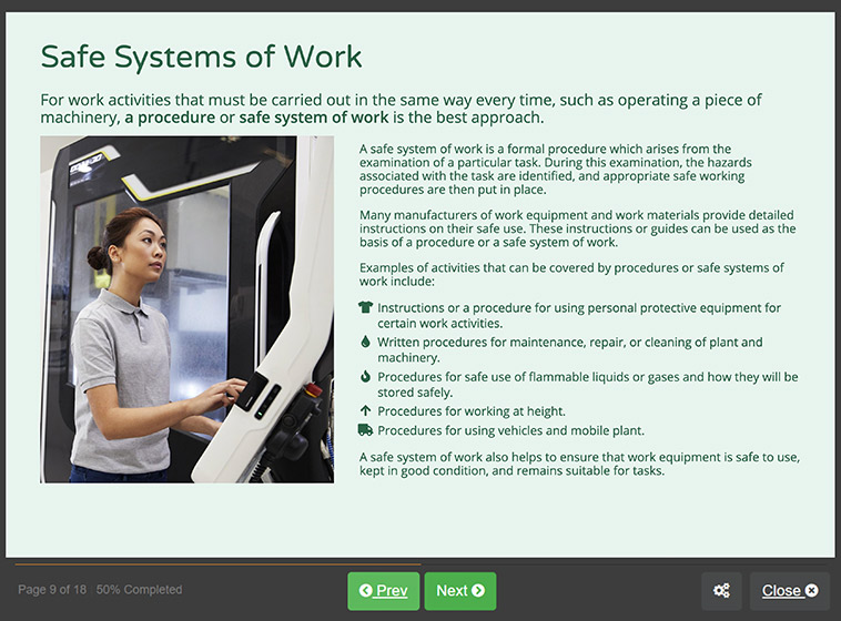 Screenshot 02 - Level 2 health and safety in the workplace Training