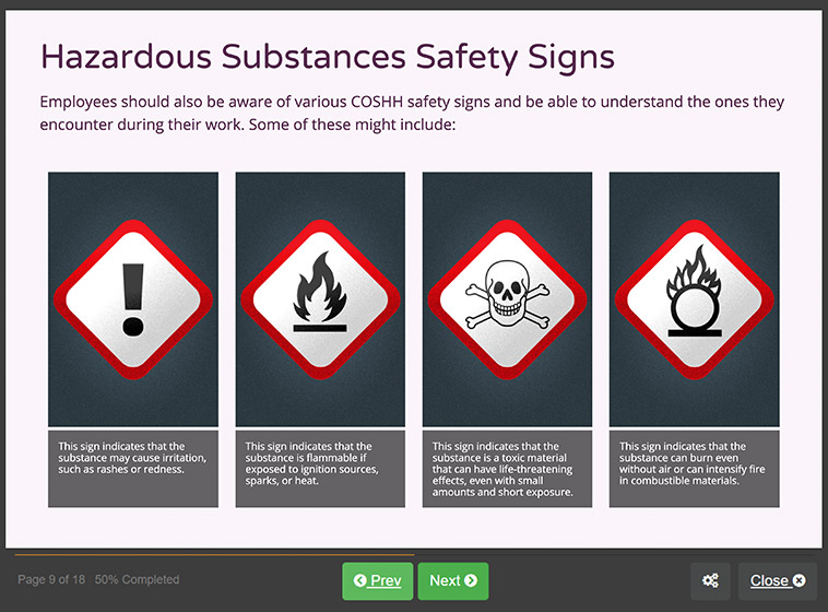 Screenshot 03 - Level 2 health and safety in the workplace Training