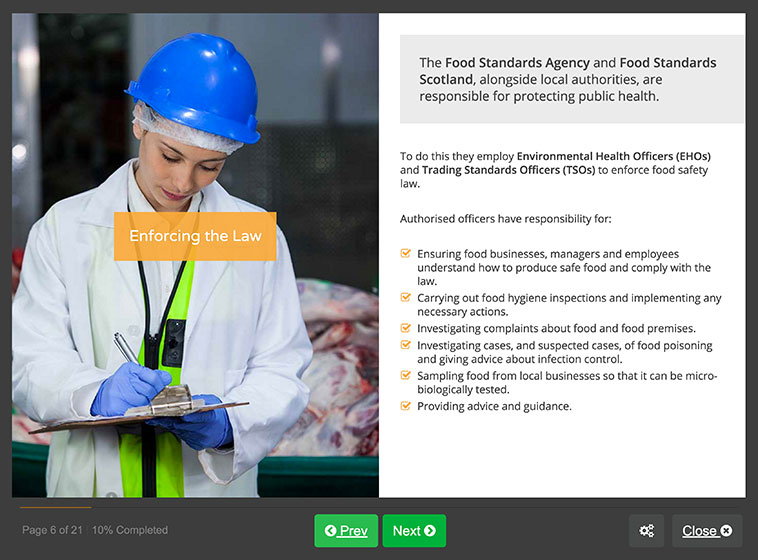 Screenshot 02 - Level 3 Food Hygiene Course for Manufacturing