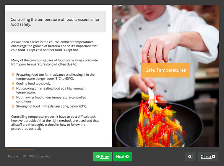 Screenshot 02 - Level 3 Food Hygiene Course for Retail