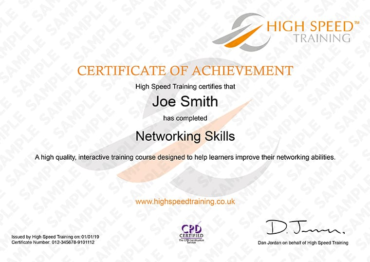 Networking Skils - Example Certificate