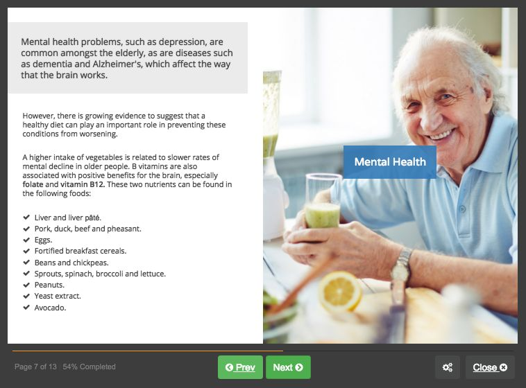 Screenshot 02 - Nutrition for the Elderly