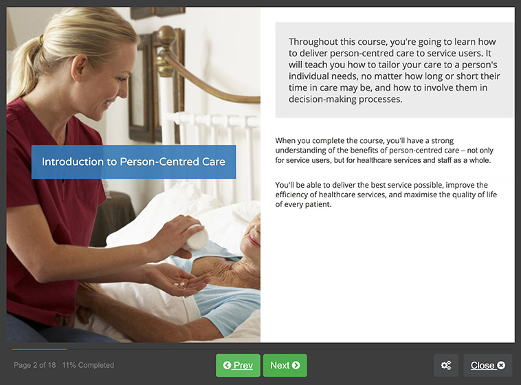 Screenshot 01 - Person-Centred Care