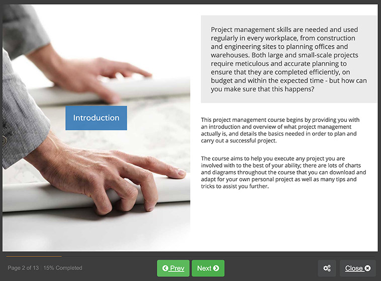 Screenshot 01 - Project Management