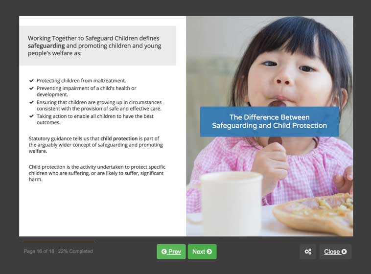 Screenshot 03 - Safeguarding Children in Education