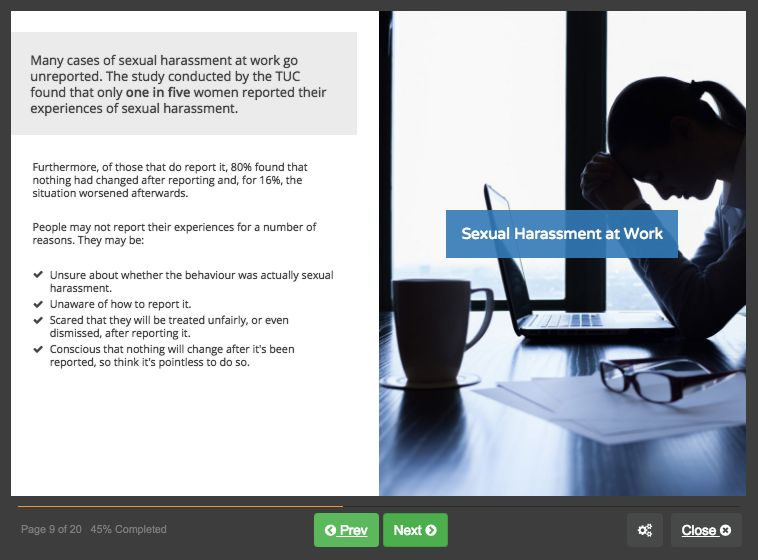 Screenshot 02 - Sexual Harassment for Managers and Supervisors