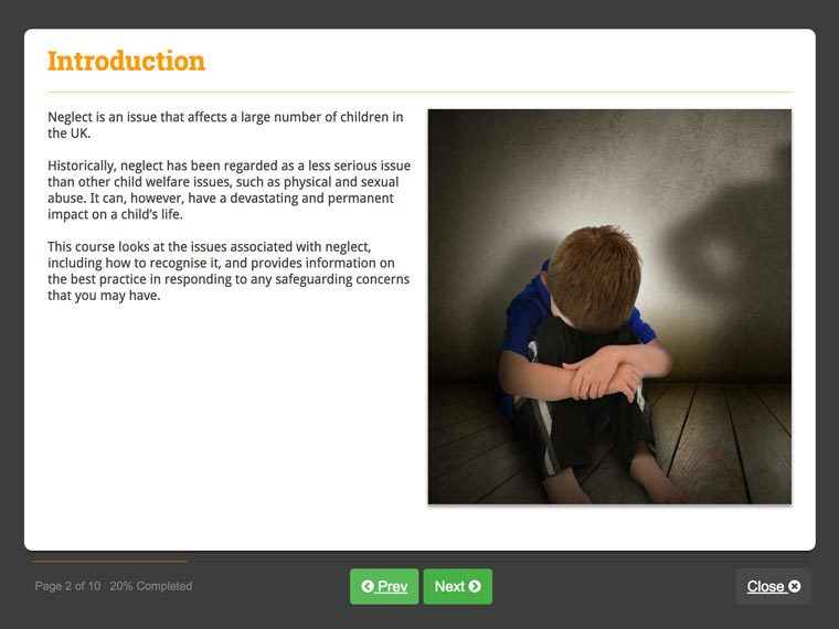 Screenshot 01 - Working with Issues of Child Neglect
