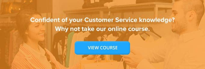 Customer Service Online Training Course Banner from High Speed Training