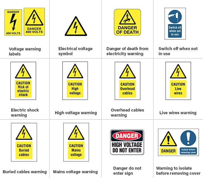 Electrical Safety Symbols Signs Do You Know Them