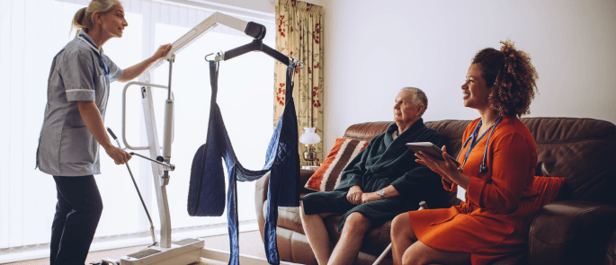 hoist in residential care home