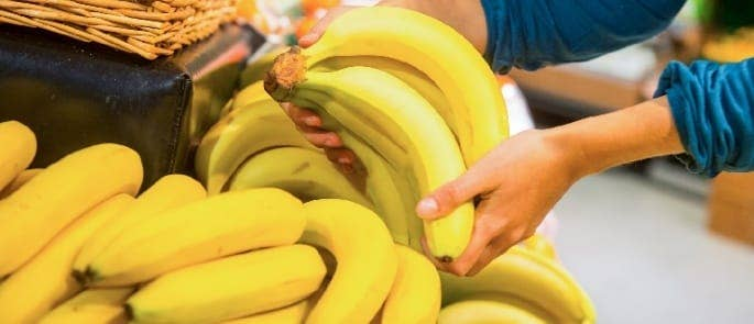 where to store bananas supermarket