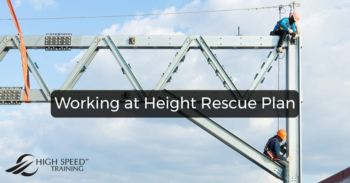 Working at Height Rescue Plan   Free Downloadable Template