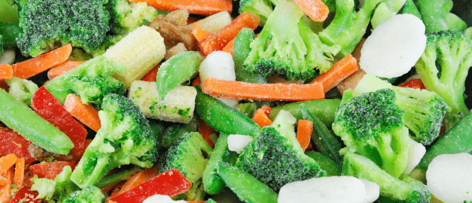 Can I cook vegetables from frozen?