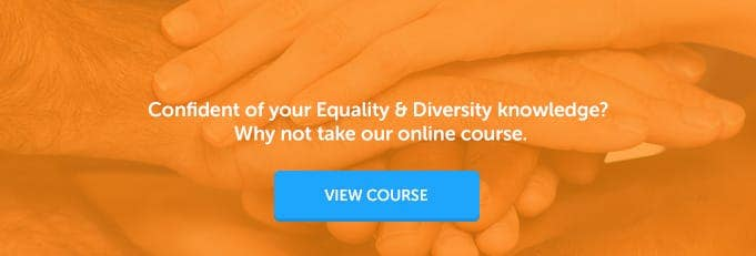 Equality and Diversity Online Training Course Banner from High Speed Training