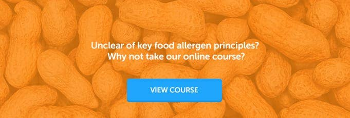 Food Allergen Awareness Training Course Banner from High Speed Training