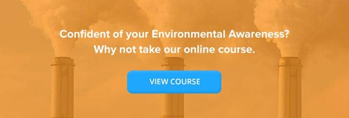 Environmental Awareness Online Training Course Banner from High Speed Training