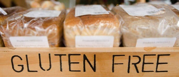 box of breads with a gluten free label on