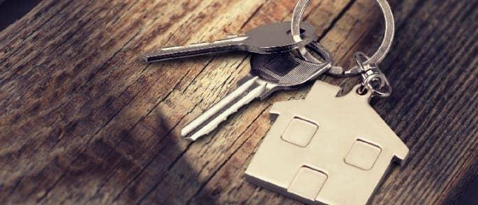keyring with rental keys