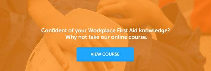 Workplace First Aid Online Training Course Banner from High Speed Training