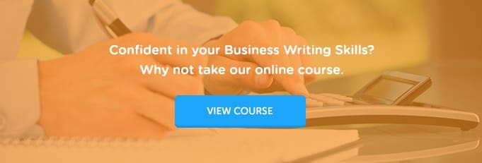 Business writing classes online