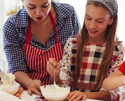 childminder baking with children