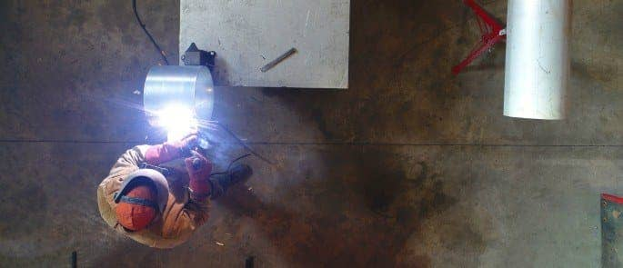 Welding in a workplace