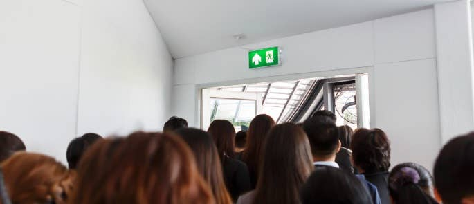 Fire evacuation in an office