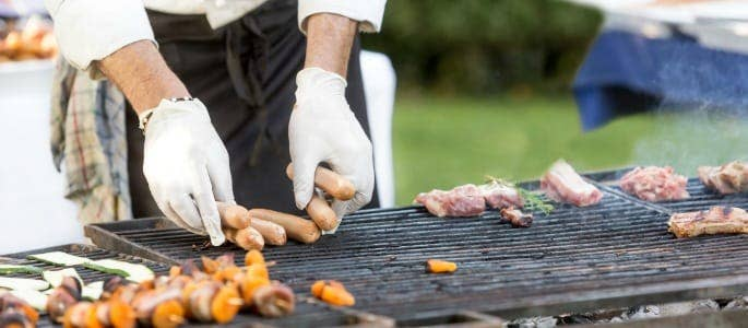Caterer preparing BBQ event - bbq checklist