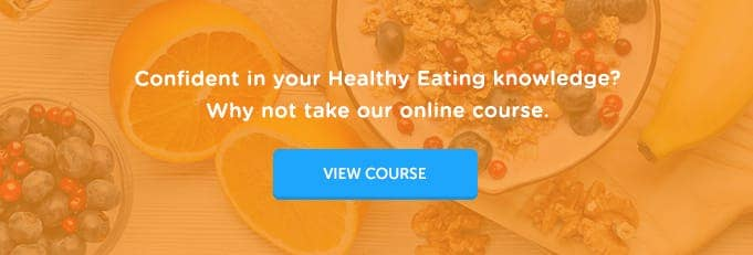 Nutrition and Healthy Eating Online Training Course Banner from High Speed Training