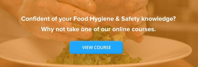Level 1 Food Hygiene and Safety  Online Training Course Banner from High Speed Training