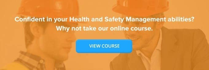 Managing Health & Safety Online Training Course Banner from High Speed Training