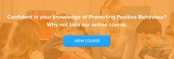 Promoting Positive Behaviour Online Training Course Banner from High Speed Training
