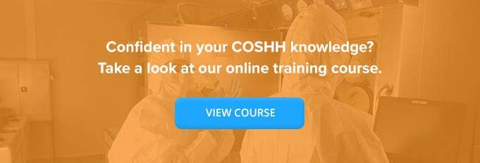 Control of Substances Hazardous to Health (COSHH) Online Training Course Banner from High Speed Training