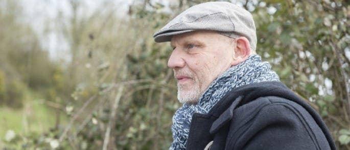 older man outdoors - men's mental health