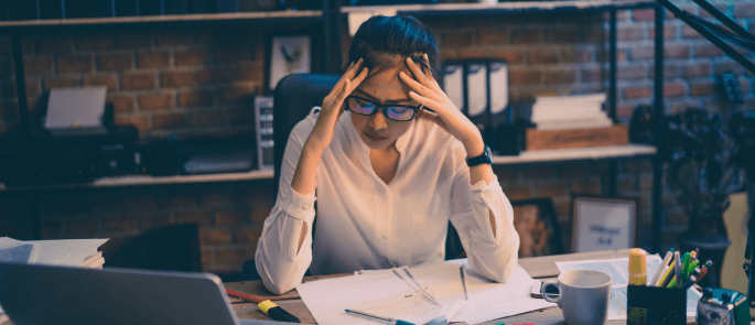 low morale and high stress in business
