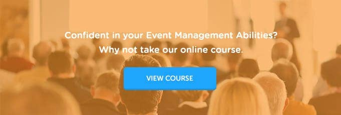 Corporate Event Management Online Training Course Banner from High Speed Training