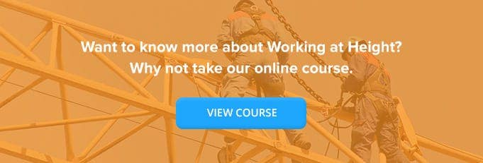 Working At Height Online Training Course Banner from High Speed Training